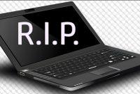 penyebab laptop mati total