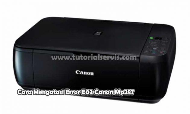 Error E03 Canon Mp287