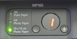 cara reset ink level canon mp160