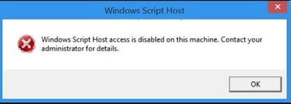 cara mengatasi windows script host acces is disabled on this machine