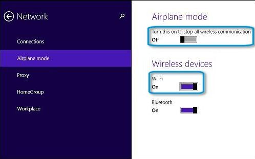 cara mengaktifkan wifi di laptop windows 8