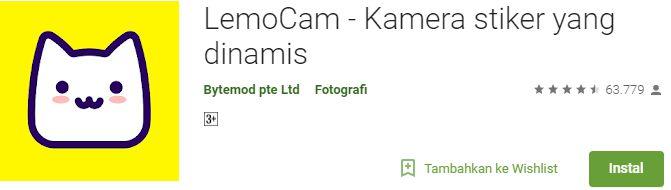 LemoCam Aplikasi Edit Foto Kekinian