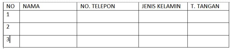 membuat tabel pada microsoft word