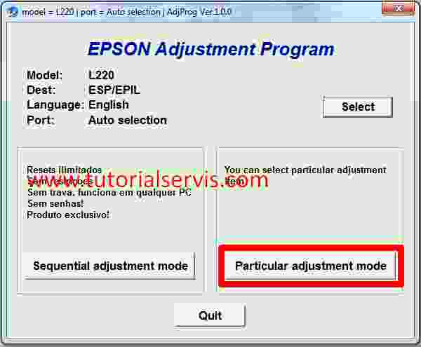adjprog.exe for epson l220