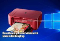 cara cleaning printer windows 10