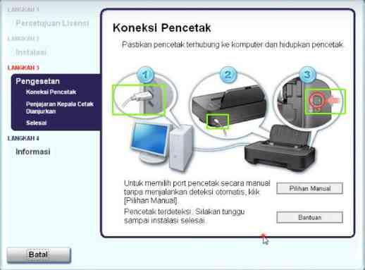 cara menginstal printer canon ip2770 ke laptop tanpa cd