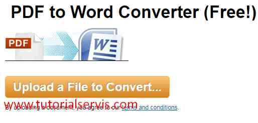 convert pdf ke word via pdf online