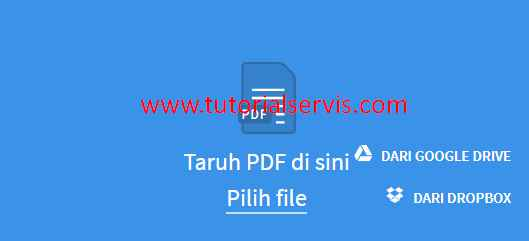 convert pdf ke word via smallpdf