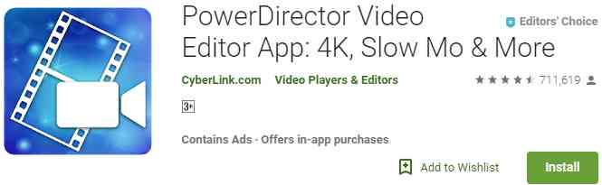 Aplikasi PowerDirector Video Editor