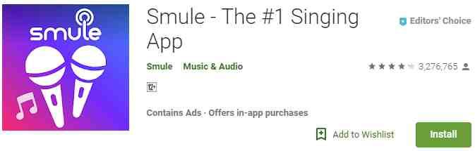Aplikasi Sing! Karaoke by Smule