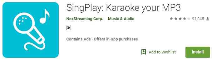 Aplikasi SingPlay