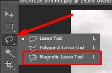 crop foto dengan lasso tool photoshop