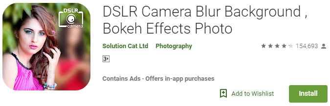 DSLR Camera Blur Background