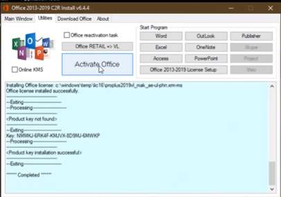 cara aktivasi office 2019 offline permanent