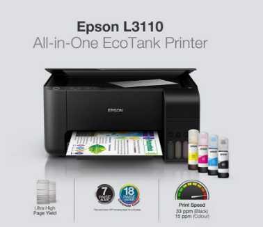 Spesifikasi Epson Ecotank L3110